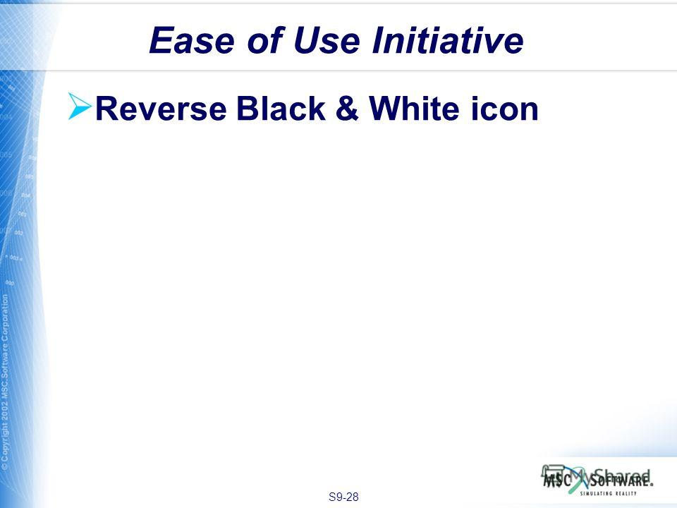 S9-28 Reverse Black & White icon Ease of Use Initiative