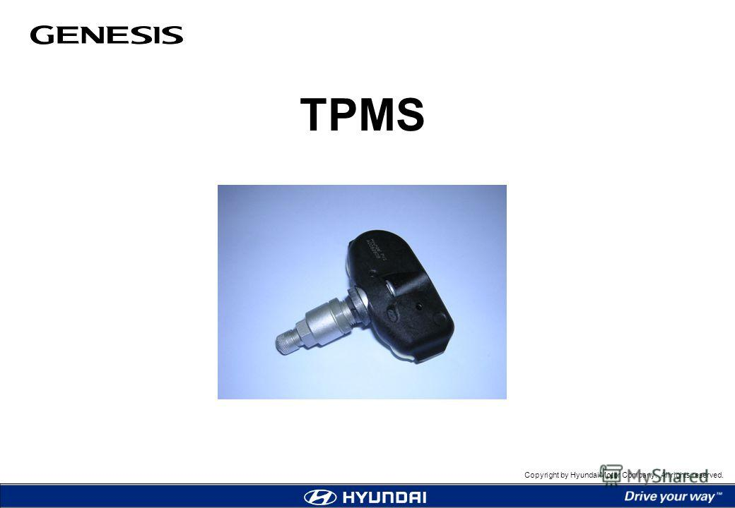 Copyright by Hyundai Motor Company. All rights reserved. TPMS