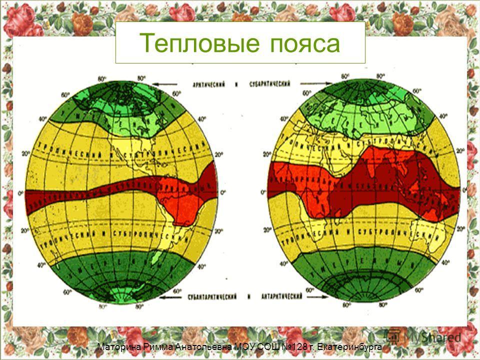 Маторина Римма Анатольевна МОУ СОШ 128 г. Екатеринбурга Тепловые пояса