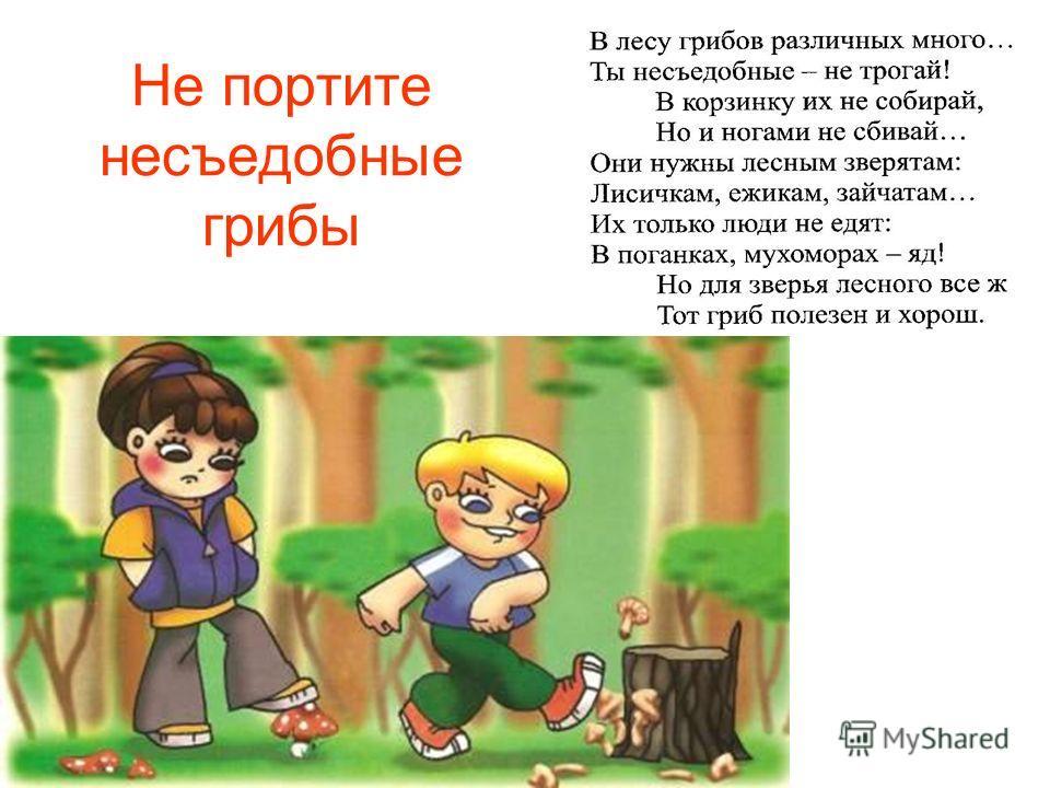 Не портите несъедобные грибы