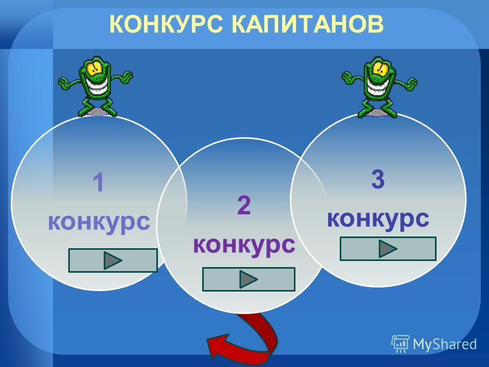 КОНКУРС КАПИТАНОВ 1 конкурс 2 конкурс 3 конкурс
