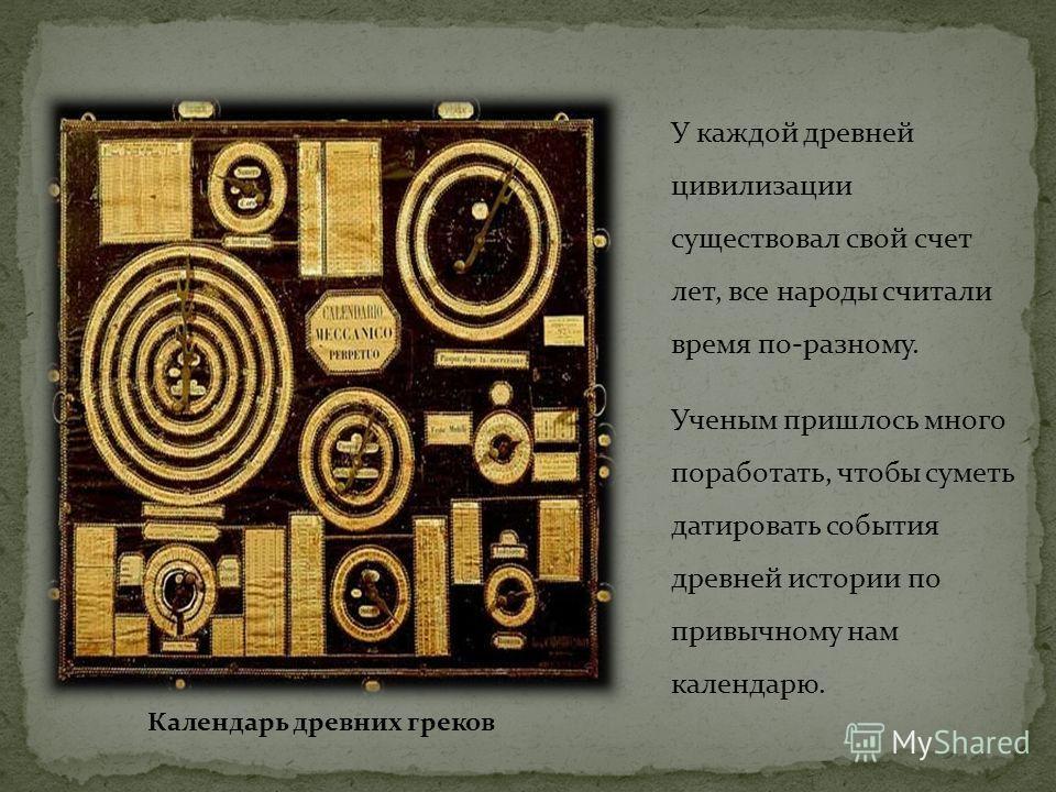 Календарь в древней цивилизации