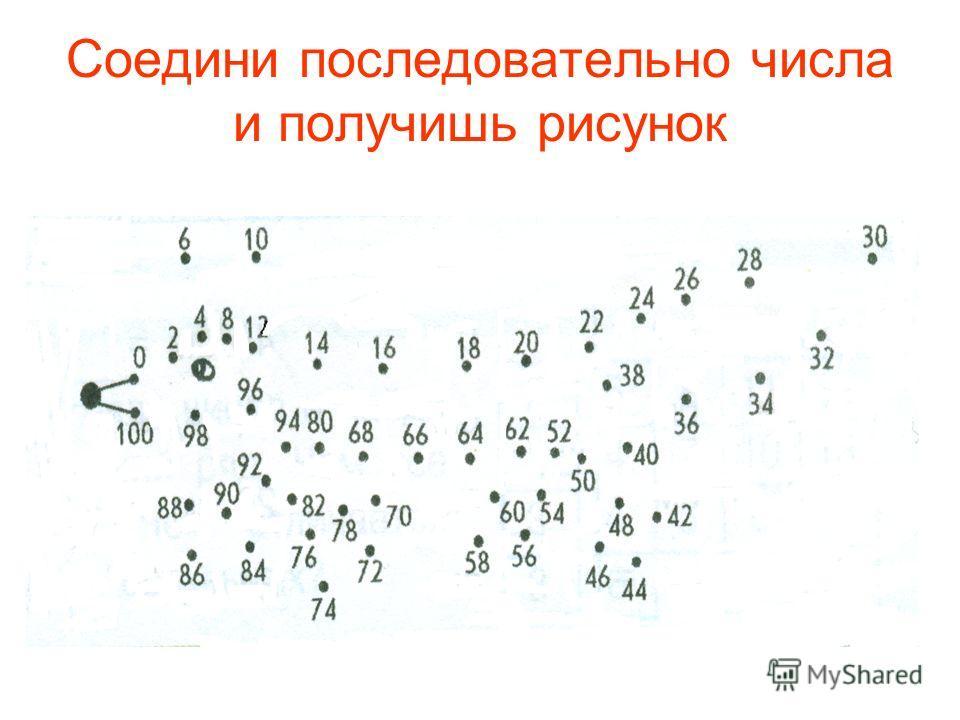Соедини последовательно числа и получишь рисунок
