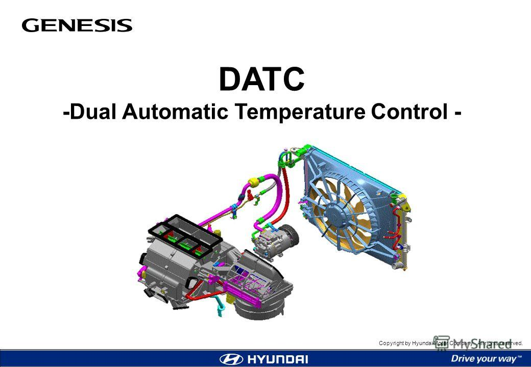 Copyright by Hyundai Motor Company. All rights reserved. DATC -Dual Automatic Temperature Control -
