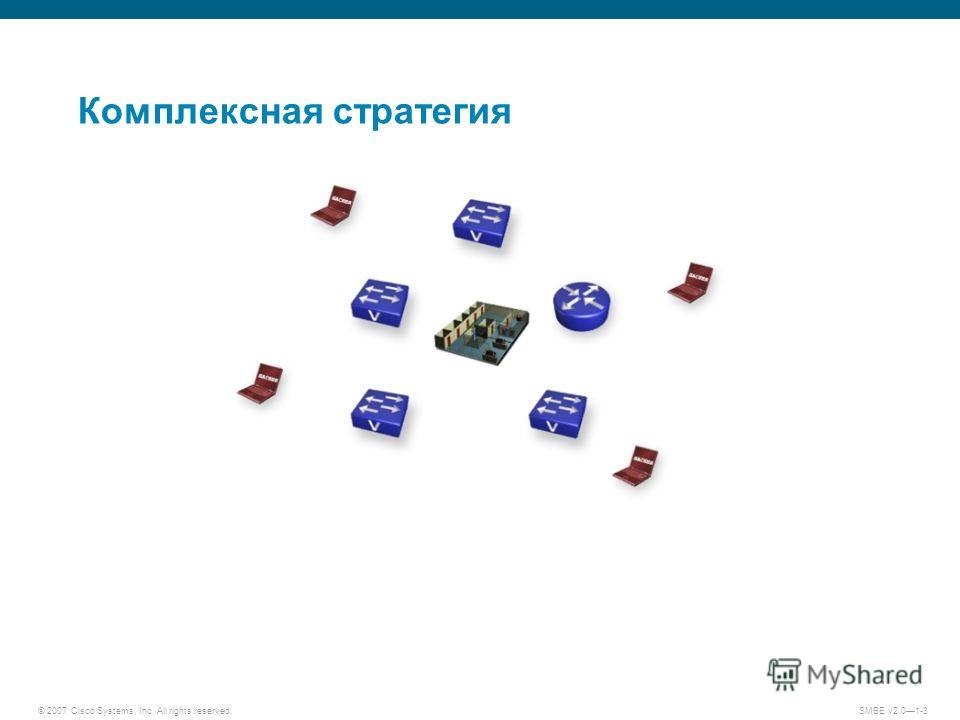 © 2007 Cisco Systems, Inc. All rights reserved. SMBE v2.01-3 Комплексная стратегия
