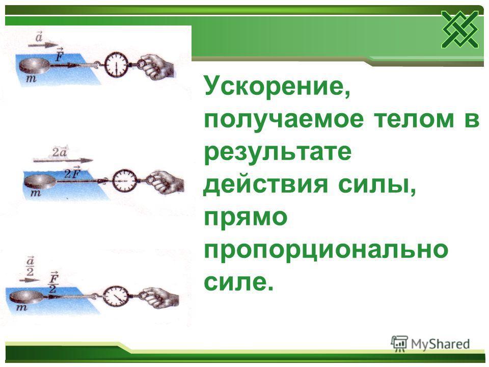 СИЛА- это действие одного тела на другое, в результате которого тело приобретает ускорение или деформируется