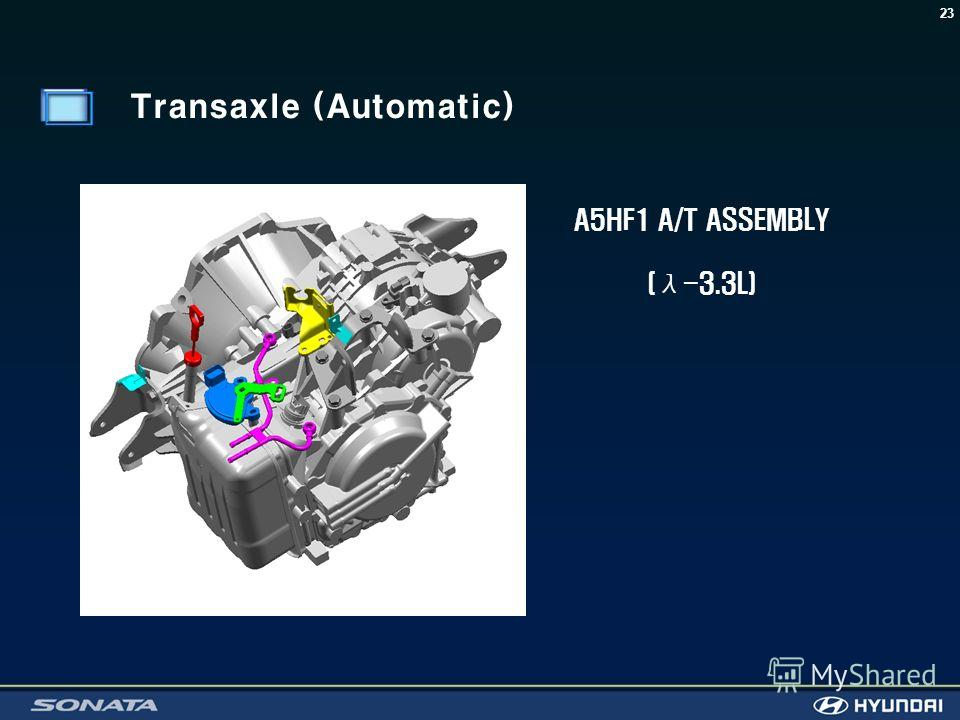 23 A5HF1 A/T ASSEMBLY (λ-3.3L) Transaxle (Automatic)