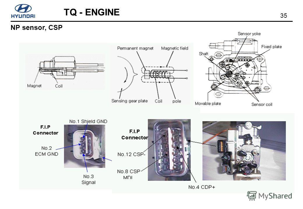35 TQ - ENGINE NP sensor, CSP