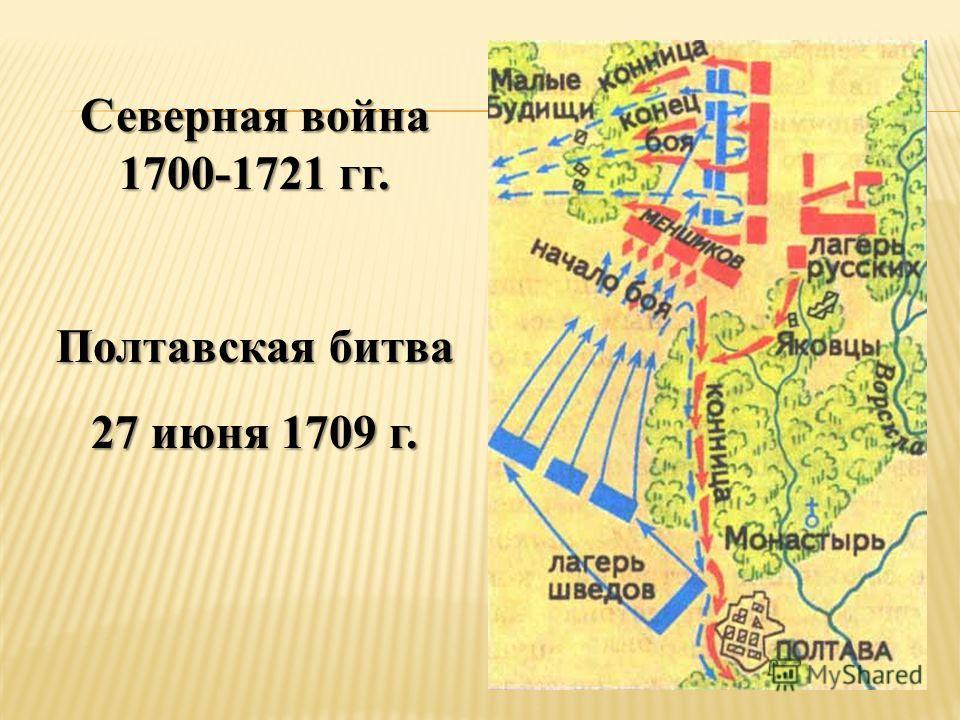 Северная война 1700-1721 гг. Полтавская битва 27 июня 1709 г.