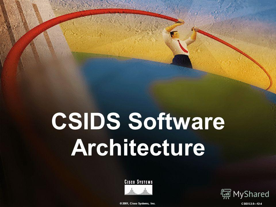 © 2001, Cisco Systems, Inc. CSIDS 2.012-4 CSIDS Software Architecture