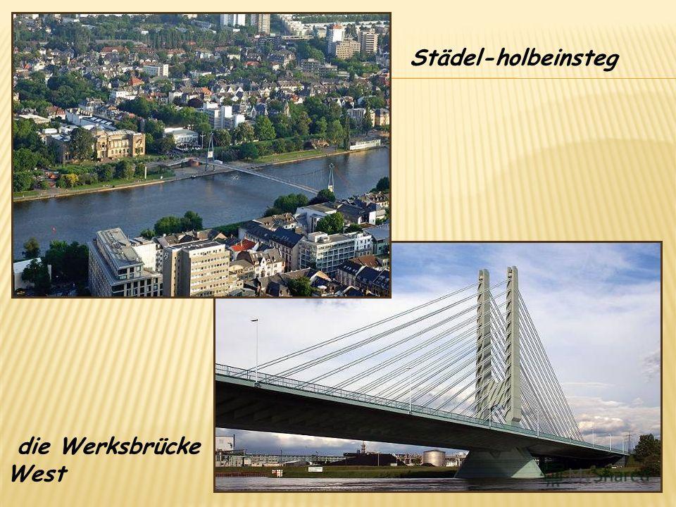 Städel-holbeinsteg die Werksbrücke West