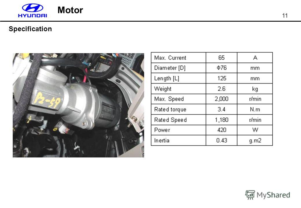 11 Motor Specification