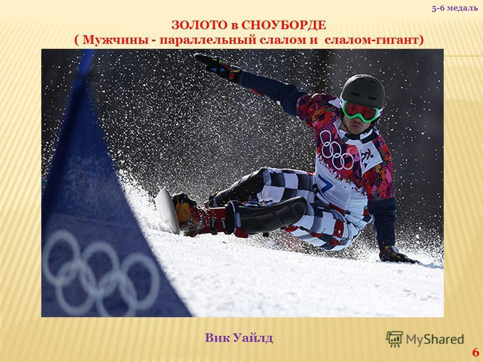 ЗОЛОТО в СНОУБОРДЕ ( Мужчины - параллельный слалом и слалом-гигант) Вик Уайлд 6 5-6 медаль