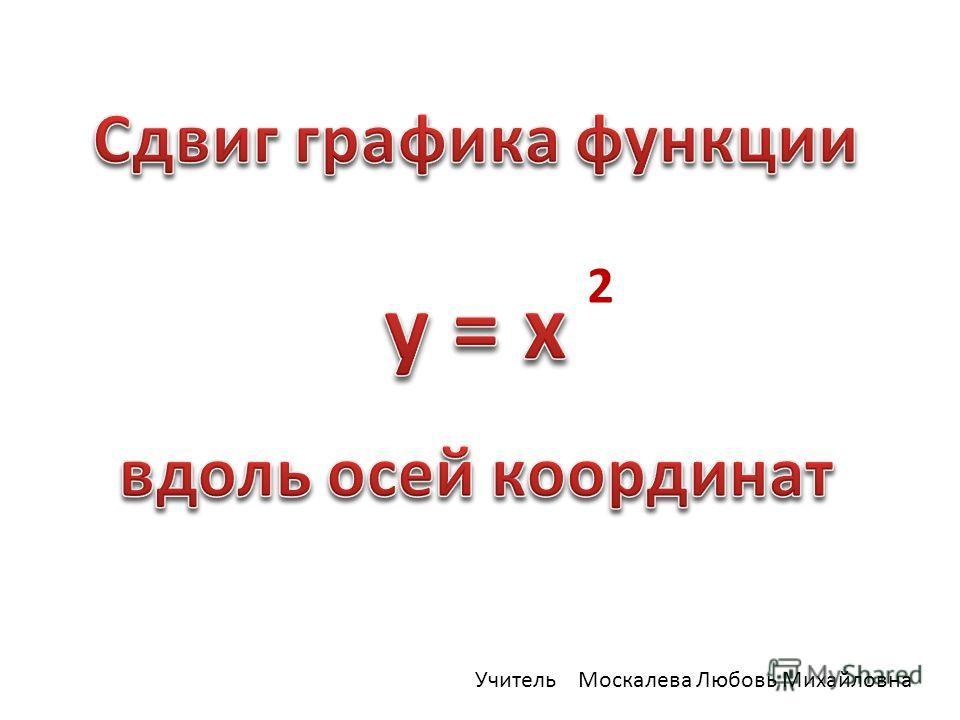 2 Учитель Москалева Любовь Михайловна