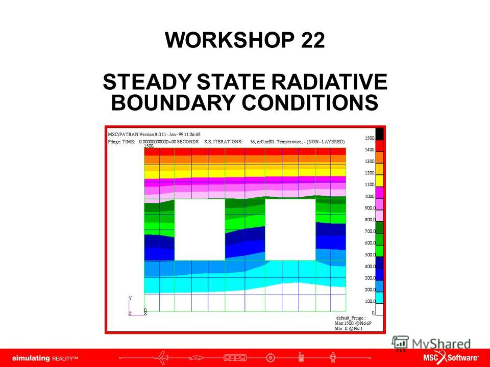 WORKSHOP 22 STEADY STATE RADIATIVE BOUNDARY CONDITIONS