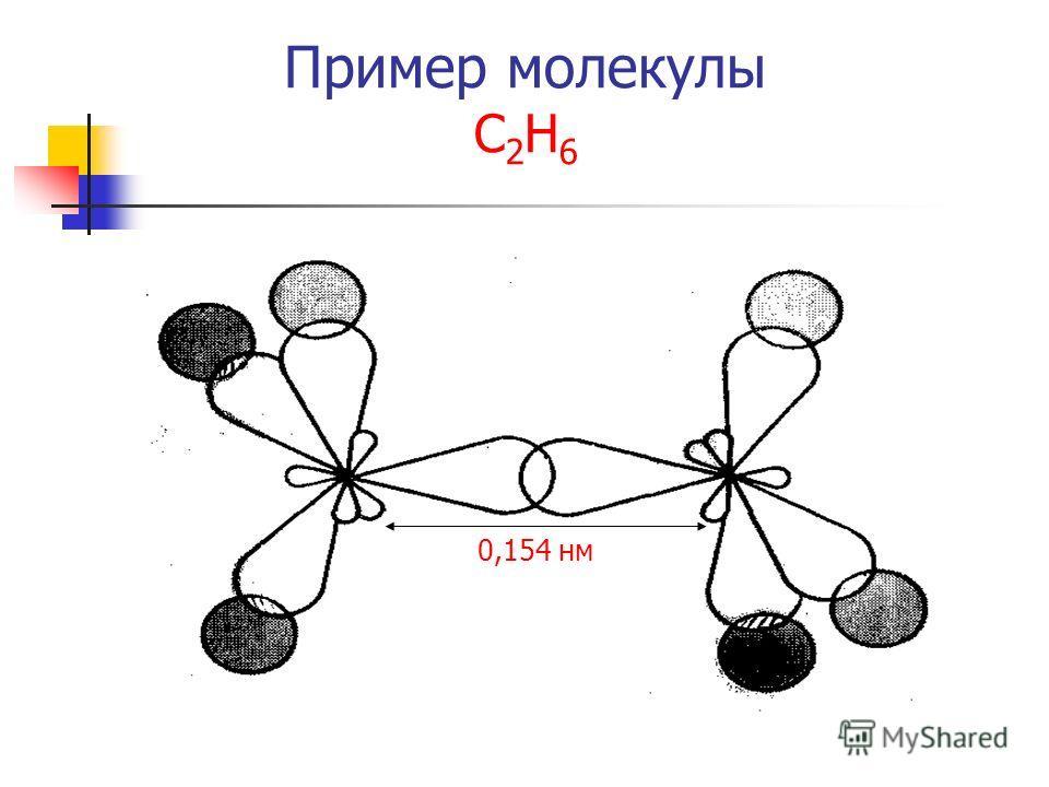 Пример молекулы С 2 Н 6 0,154 нм
