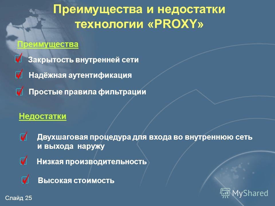 Слайд 24 Шлюзы прикладного уровня Внутренняя сеть НТТР - посредник FTP - посредник и др. Внутренние серверы Рабочие места