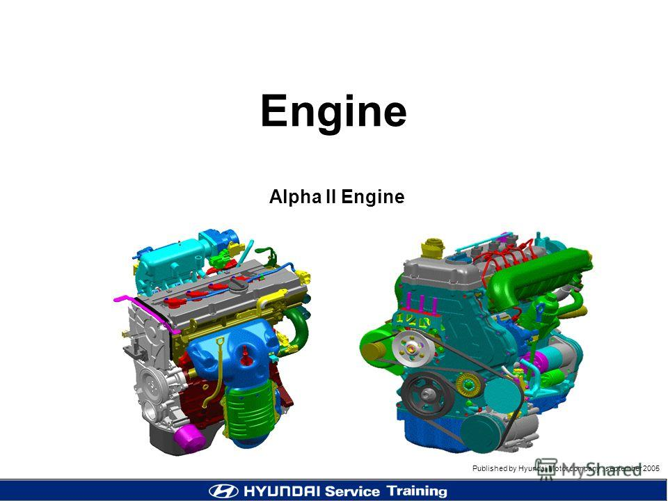 Published by Hyundai Motor company, september 2005 Engine Alpha II Engine