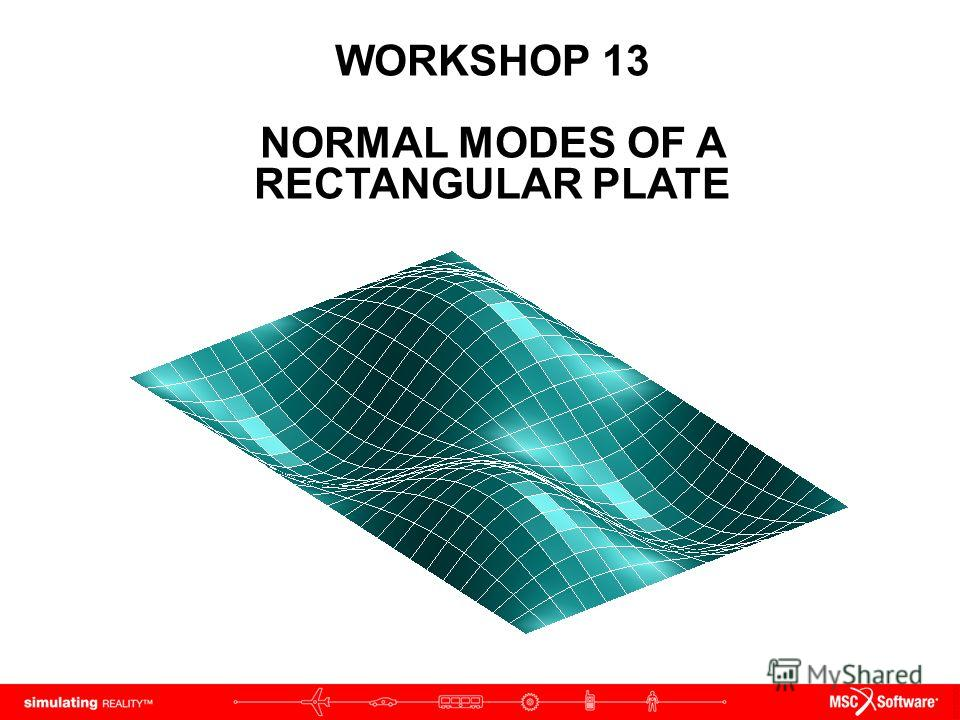 WORKSHOP 13 NORMAL MODES OF A RECTANGULAR PLATE