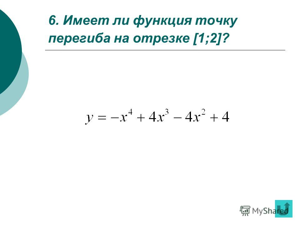 5. По графику производной некоторой функции укажите интервалы, на которых функция монотонно возрастает, убывает, имеет максимум, имеет минимум.