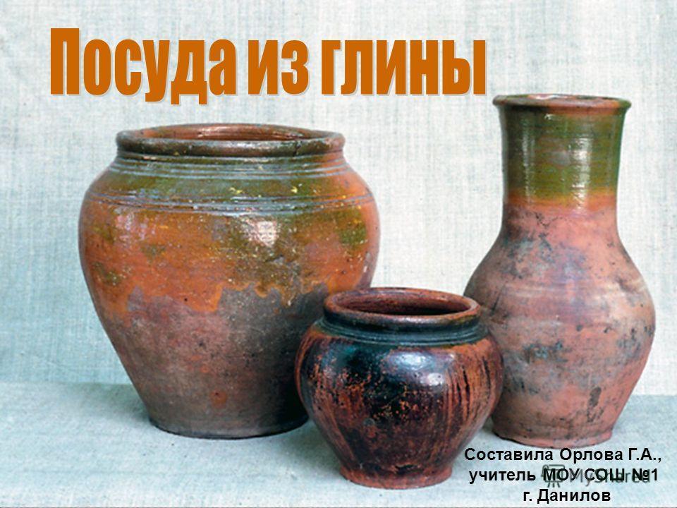 Составила Орлова Г.А., учитель МОУ СОШ 1 г. Данилов