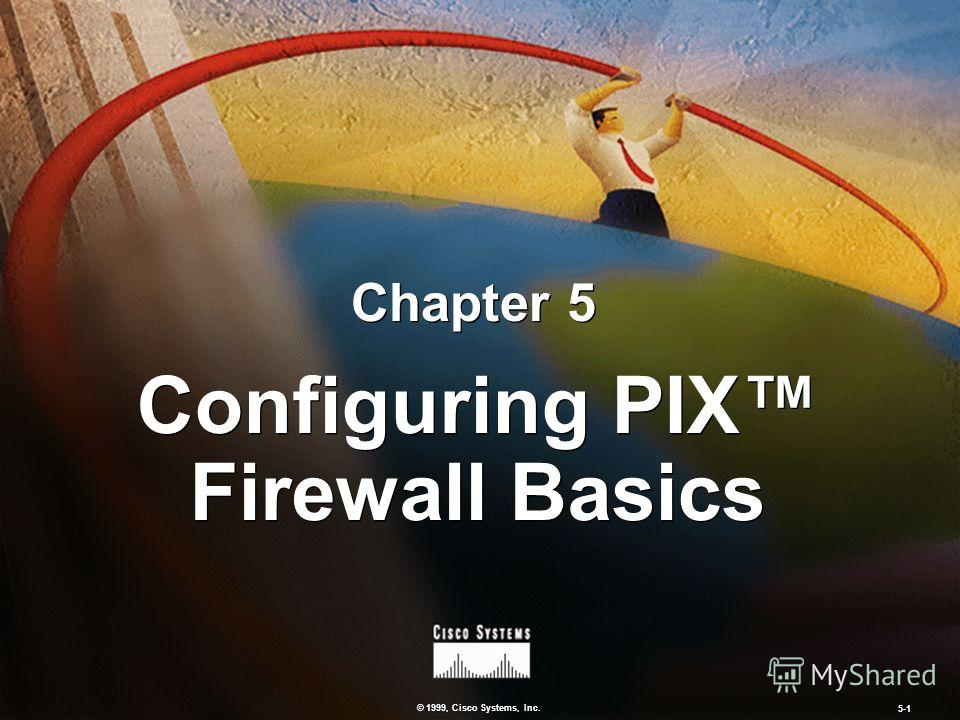 © 1999, Cisco Systems, Inc. 5-1 Configuring PIX Firewall Basics Chapter 5
