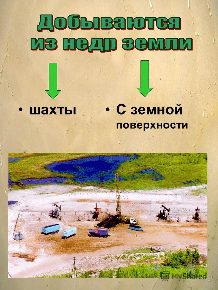 шахтыС земной поверхности