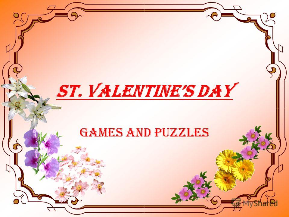 ST. VALENTINES DAY Games and Puzzles