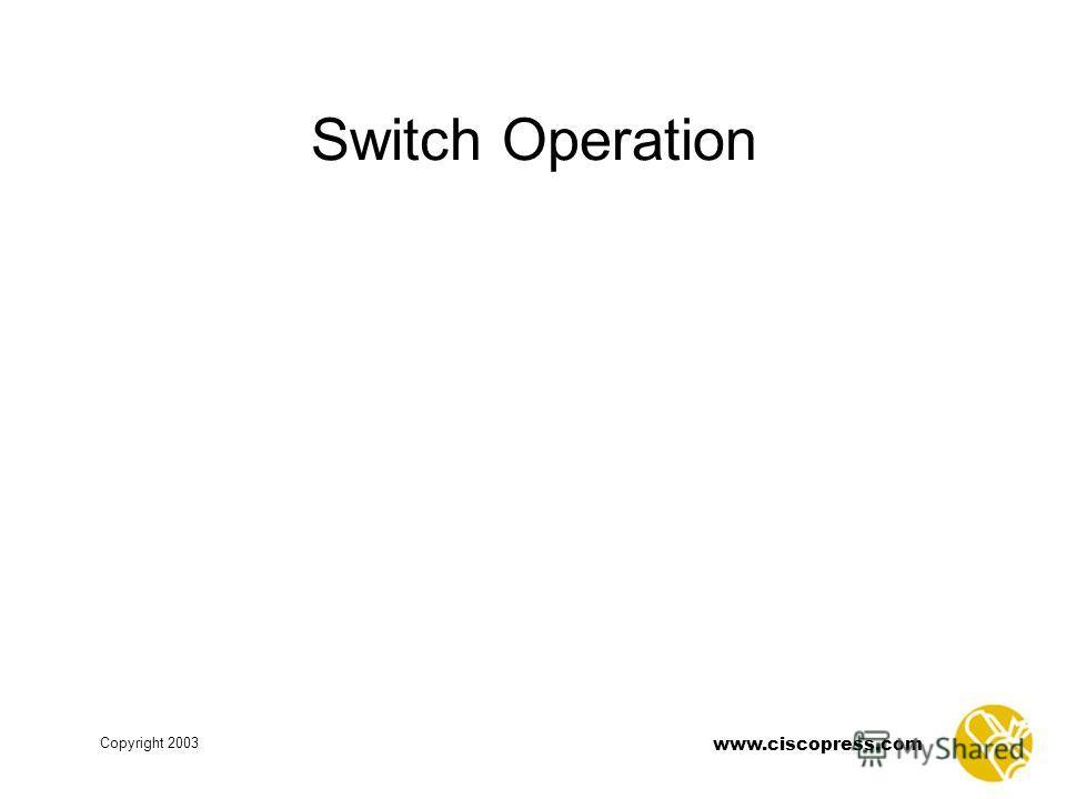 www.ciscopress.com Copyright 2003 Switch Operation