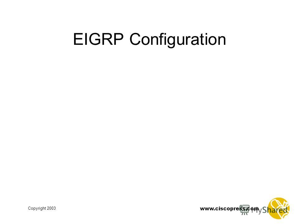 www.ciscopress.com Copyright 2003 EIGRP Configuration