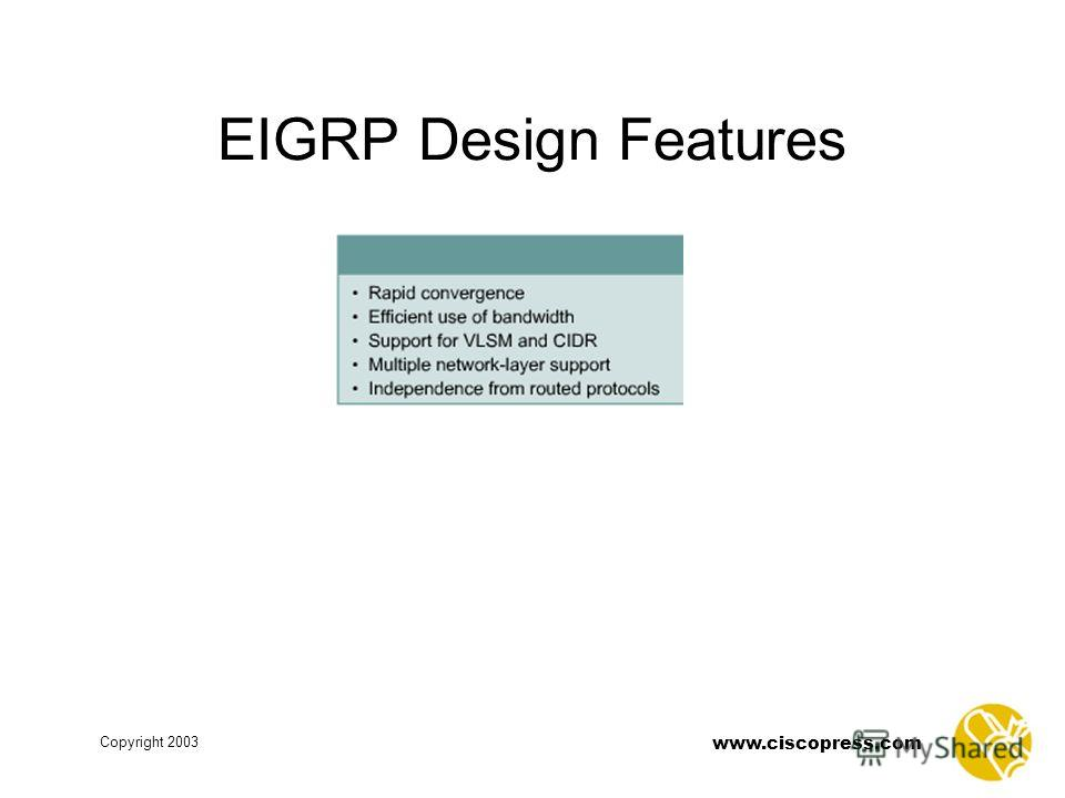 www.ciscopress.com Copyright 2003 EIGRP Design Features