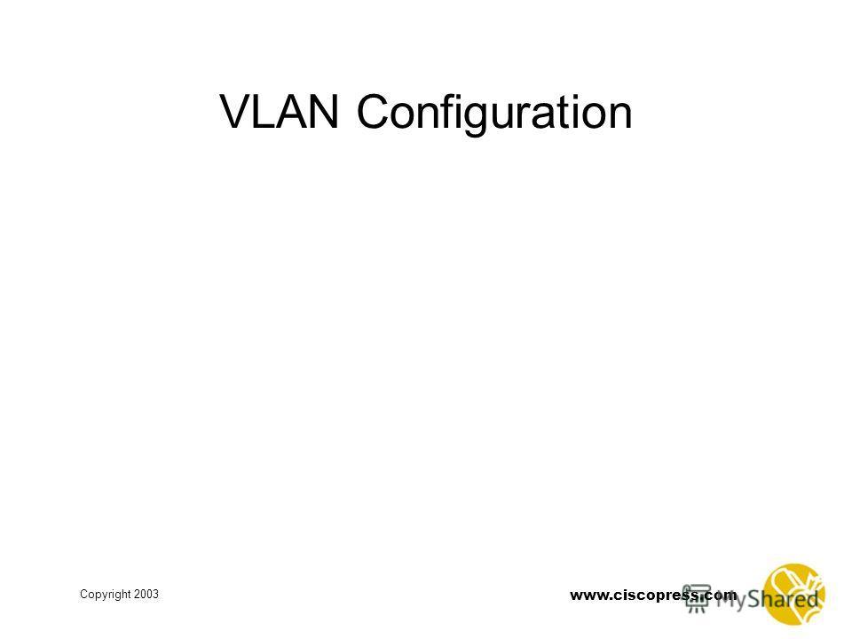 www.ciscopress.com Copyright 2003 VLAN Configuration