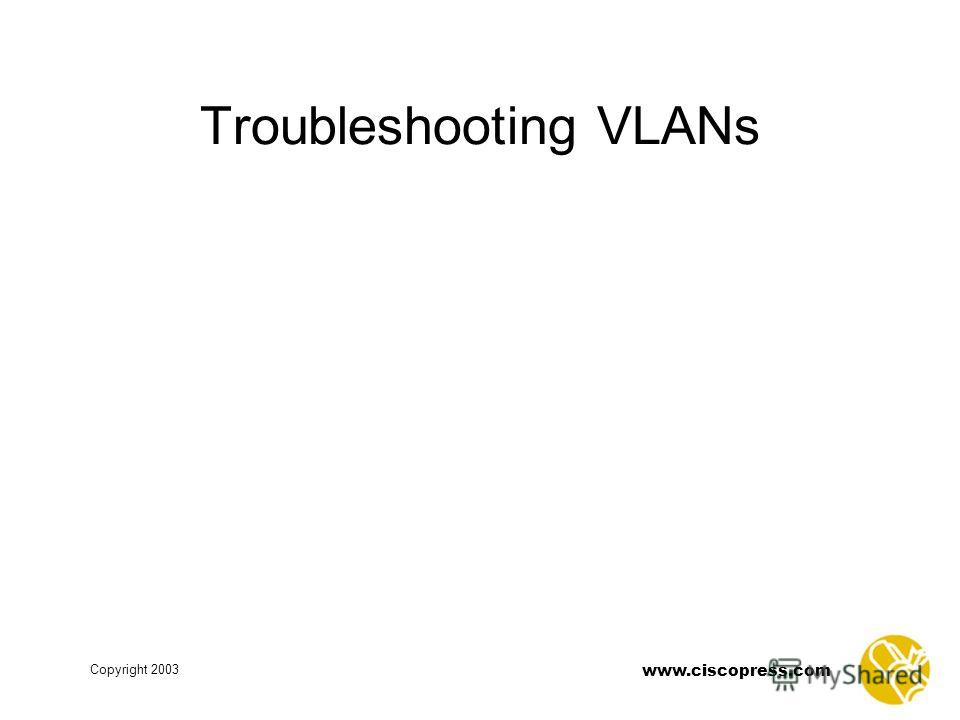 www.ciscopress.com Copyright 2003 Troubleshooting VLANs
