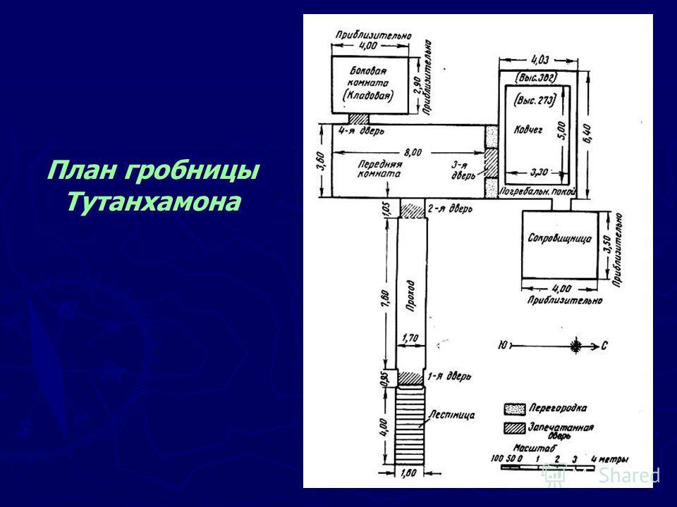 План гробницы Тутанхамона