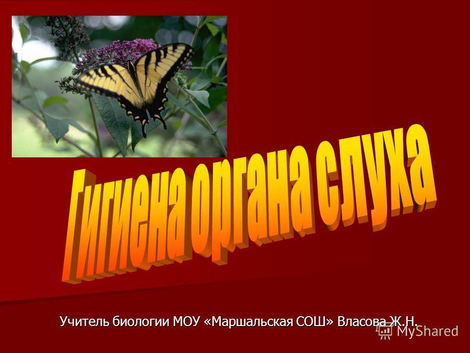Учитель биологии МОУ «Маршальская СОШ» Власова Ж.Н.