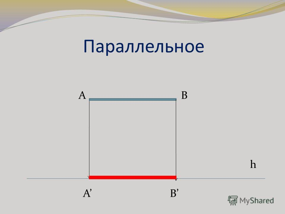 Параллельное h A B AB
