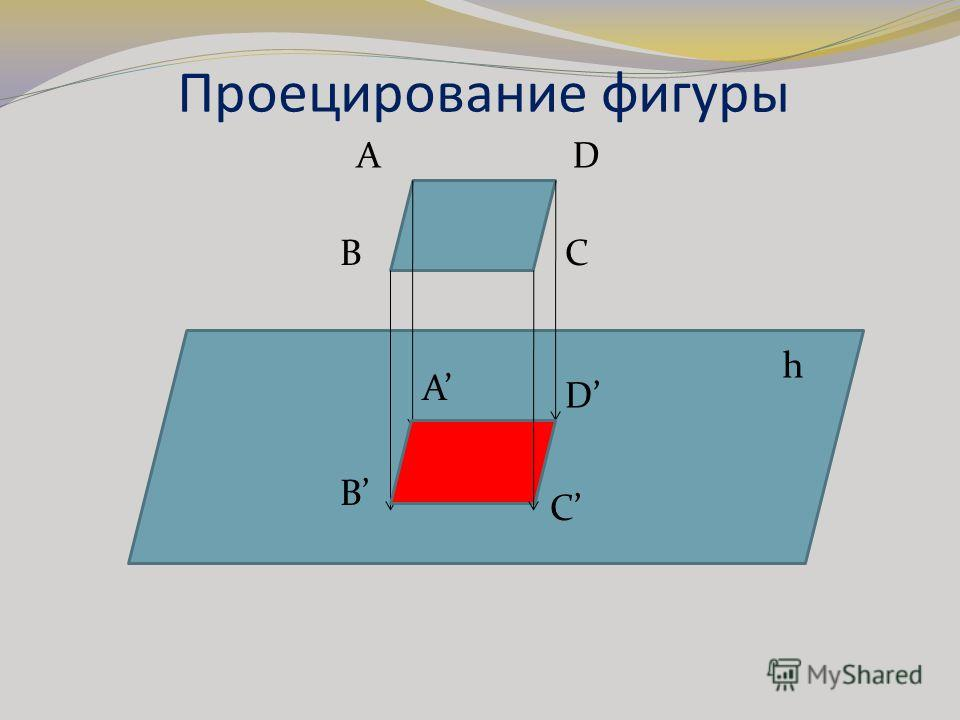 Проецирование фигуры AD BC A B C D h