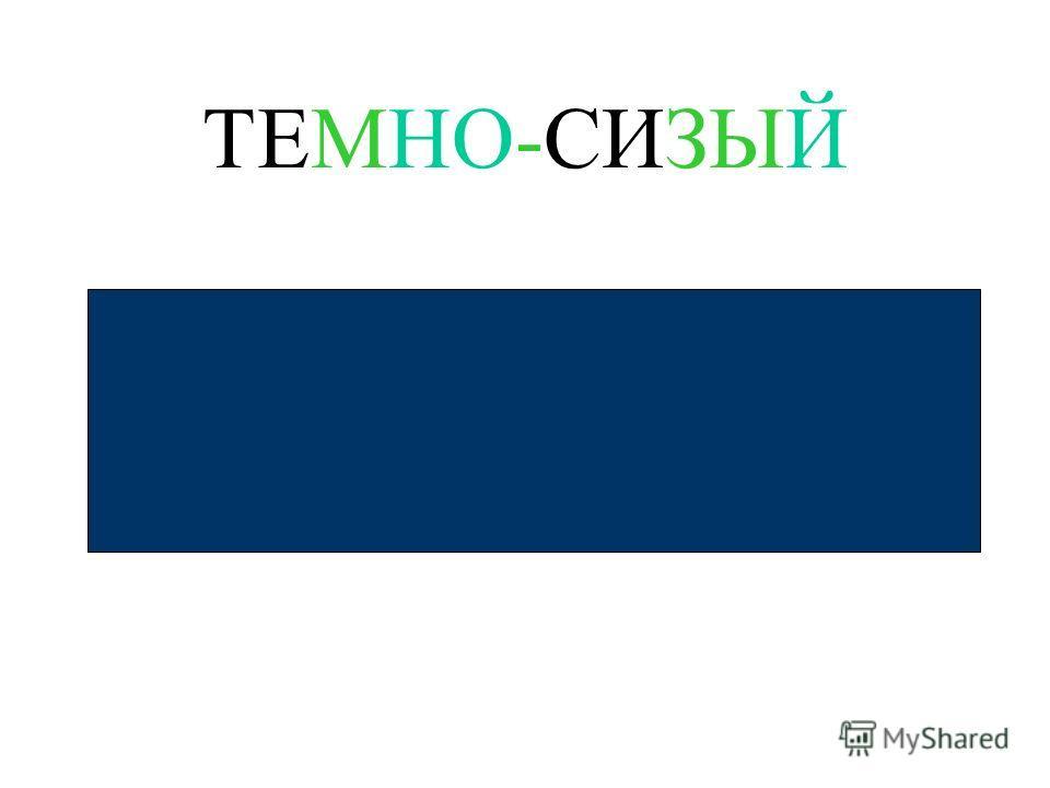 ТЕМНО-СИЗЫЙ