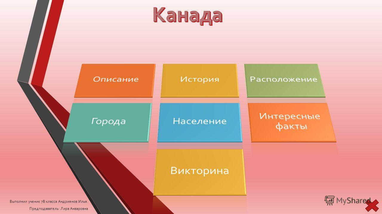 Выполнил ученик 7В класса Андриянов Илья. Предподаватель: Лира Анваровна