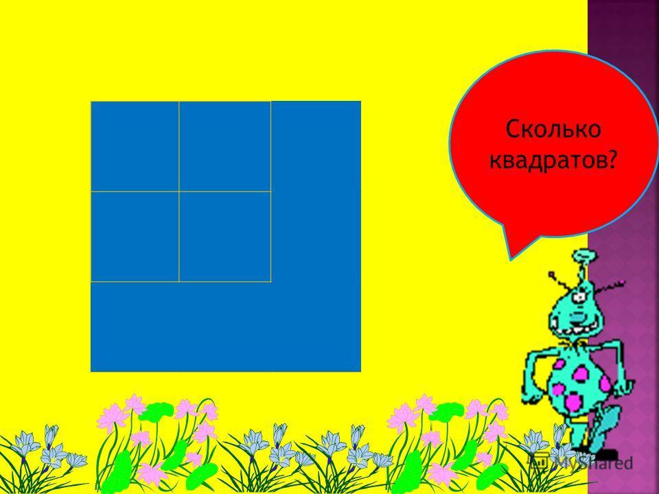 Сколько прямоугольников? Квадратов?