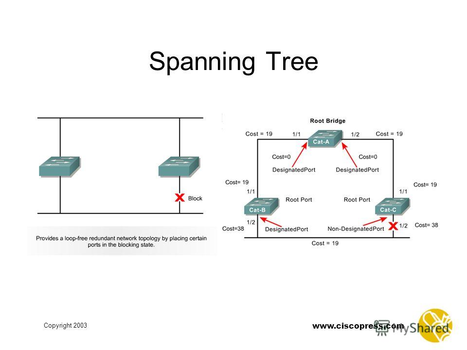 www.ciscopress.com Copyright 2003 Spanning Tree