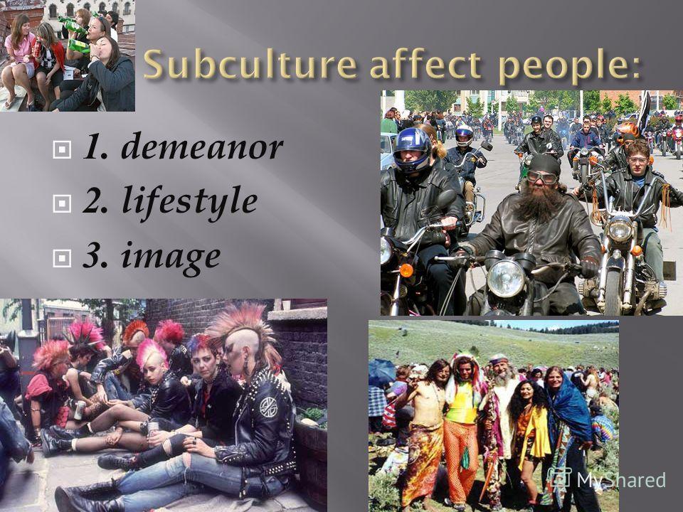 1. demeanor 2. lifestyle 3. image