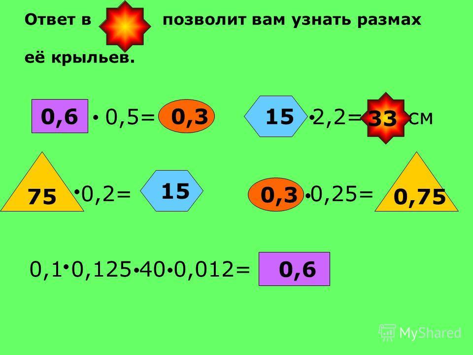 1. Решите уравнение х:0,6=21,1 2. Вычислите 57,48* 0,9093 + 42,52*0,909= 3. Вычислите 6,48 2,2-6,47 2,2= 4. Найдите значение выражения 0,3752 х+0,7248 х-0,27, если х=5,7 5. Вычислите 0,4 +(1,32+3,48)-0,06= 690,9312,66 4,90,022 К О С А В Х =12,66 С 90