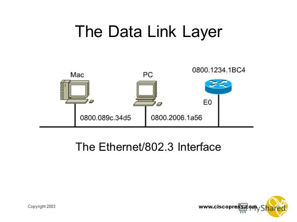 www.ciscopress.com Copyright 2003 The Data Link Layer The Ethernet/802.3 Interface