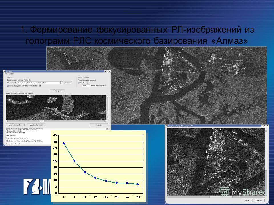 1. Формирование фокусированных РЛ-изображений из голограмм РЛС космического базирования «Алмаз»