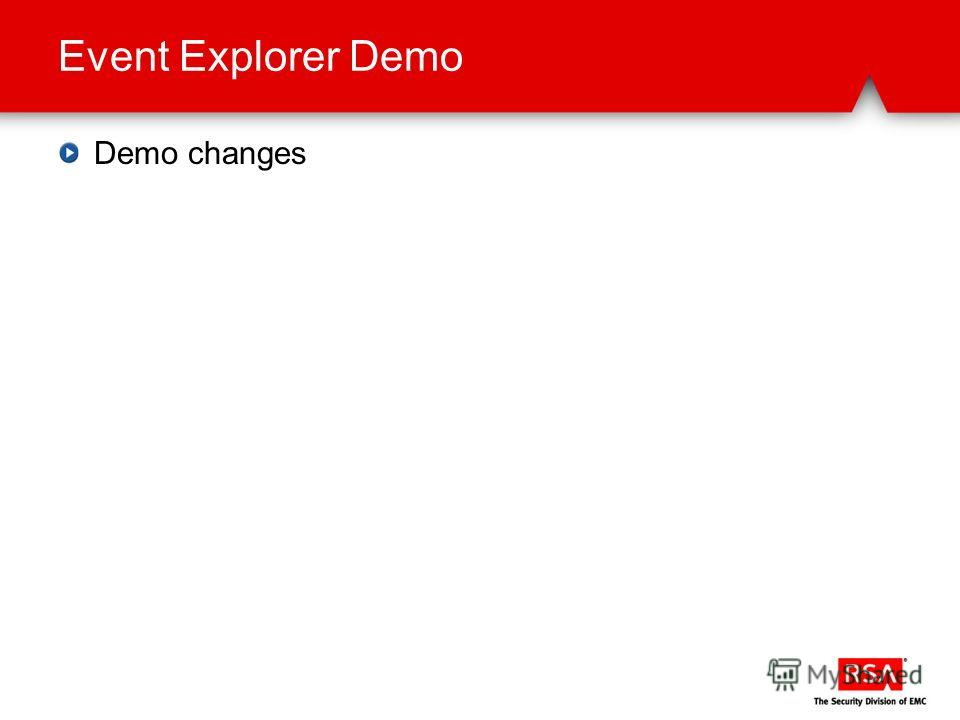 Event Explorer Demo Demo changes