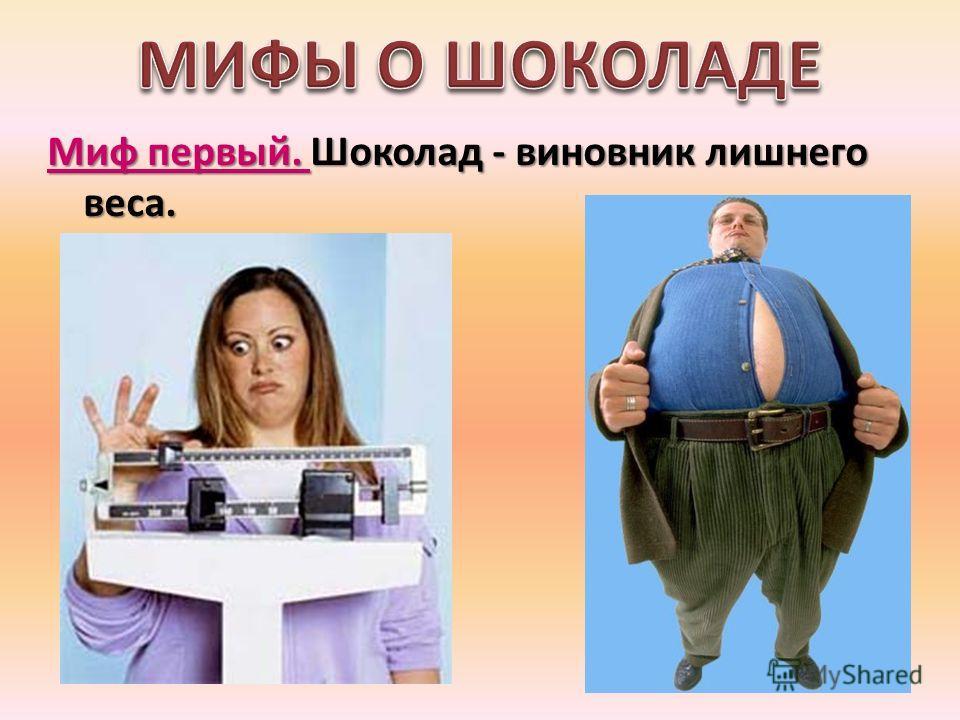 Миф первый. Шоколад - виновник лишнего веса.
