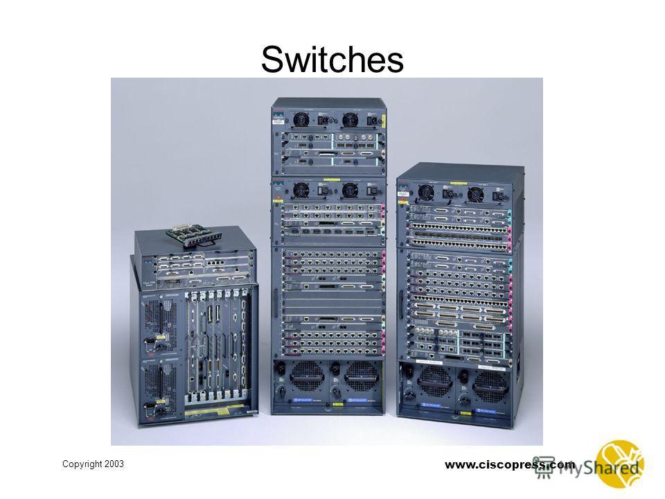 Copyright 2003 www.ciscopress.com Switches