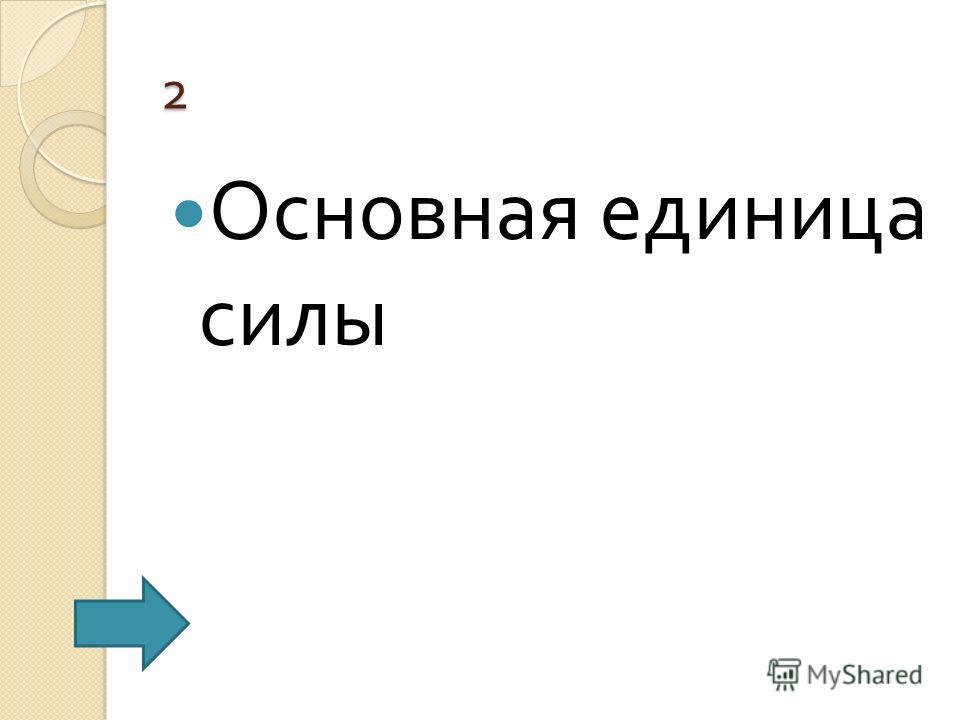 2 Основная единица силы