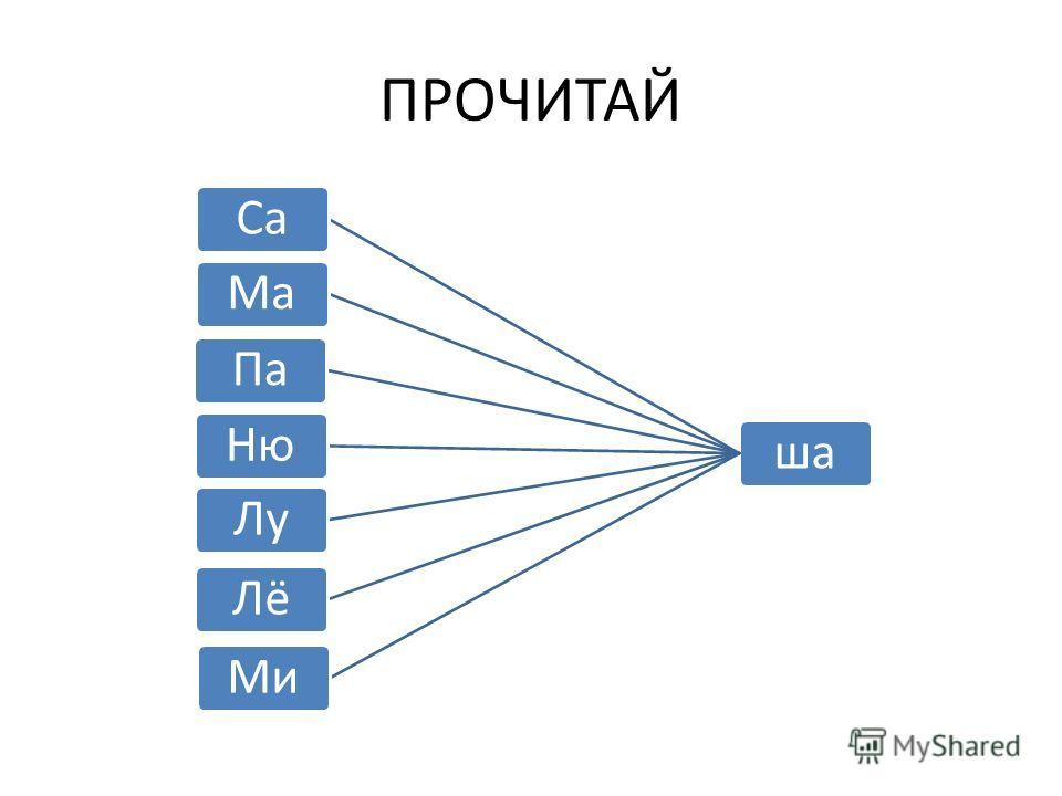 ПРОЧИТАЙ ша СаМа ПаНю ЛуЛёМи